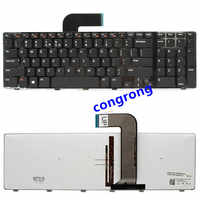 Laptop keyboard for dell 5720 7720 N7110 17R L702X Vostro3750 series US keyboarded with backlit black and gray