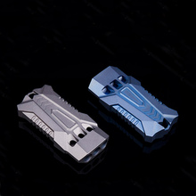 One-piece processing titanium alloy three-hole whistle fighter shape waterproof non-slip outdoor survival