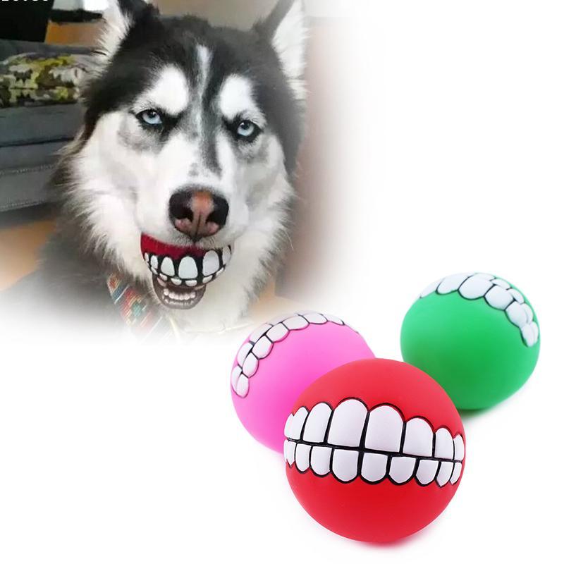 1 unid dientes pelota Perro Mascota juguetes del perro bola Súper pegamento evad