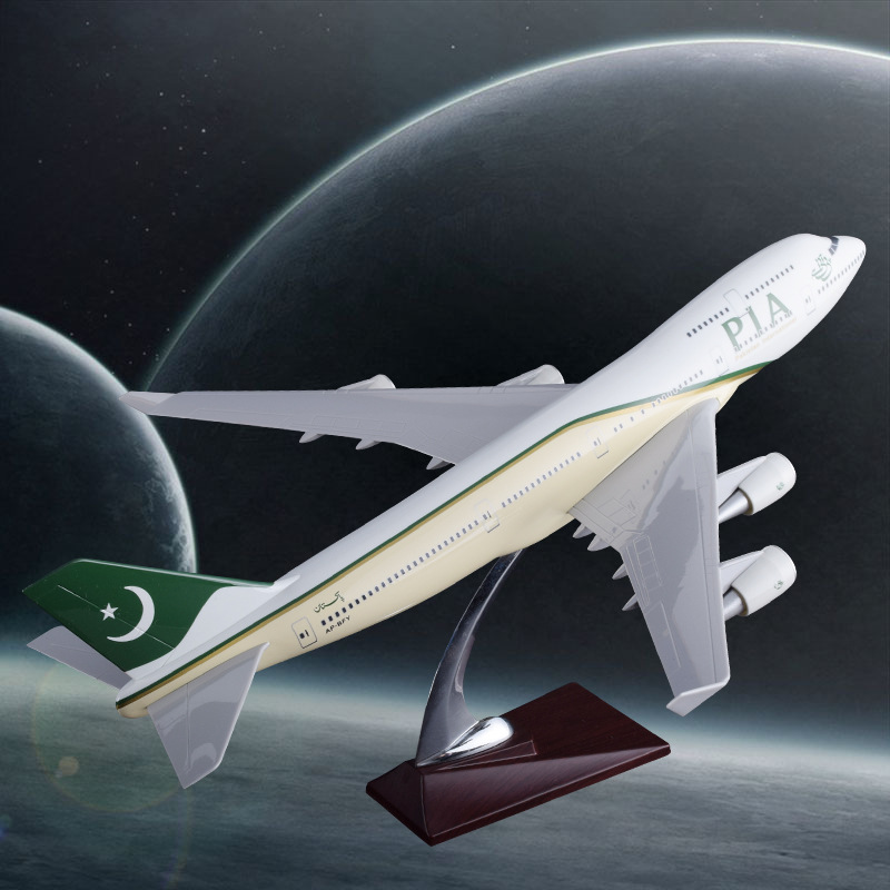 47cm Boeing 747 Pakistan Aircraft Model Resin B747 PIA Airlines Airplane Airways Model Aviation Airbus Plane Model Collection spike wings xx4391 jc china eastern airlines b 5902 a330 200 green 1 400 commercial jetliners plane model hobby