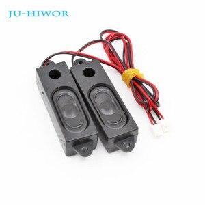 2 pièces 2W 8R 18*69*15MM haut-parleur multimédia pour Machine de publicité avec fil intégré Mini boîte haut-parleur
