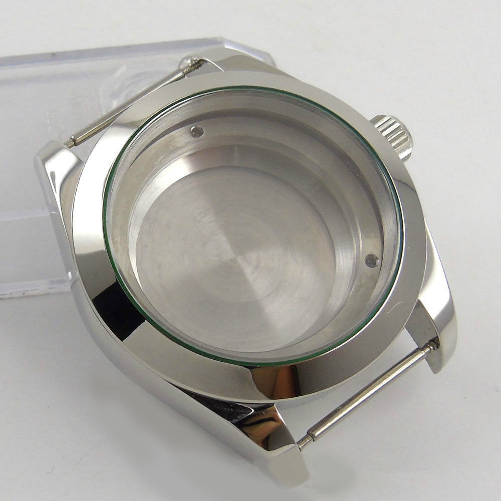 40mm 316L steel silver automatic Watch Case fit ETA 2824 2836 Movement | Repair Tools & Kits