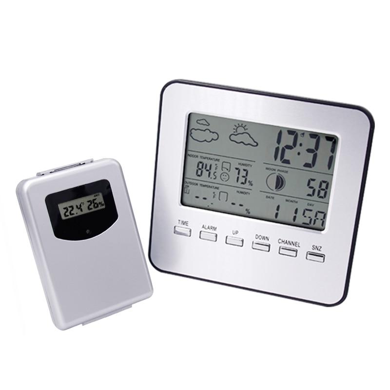 Sans fil Thermomètre Hygromètre Station Météo Numérique Intérieur/Extérieur Température Humidité Mètre Date Alarme Horloge 30% OFF