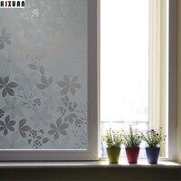 Blumendruck glasfenster schutzfolie aufkleber 45x100 cm Selbstklebende kleber fensteraufkleber sonnenschutzmittel papier Hsxuan marke 453051