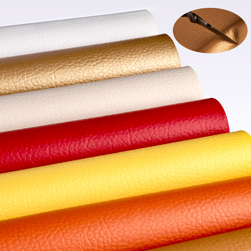25cm*34cm PU litchi leather fabric wall decoration DIY Handmade Sew Clothes Accessories Supplies(China)