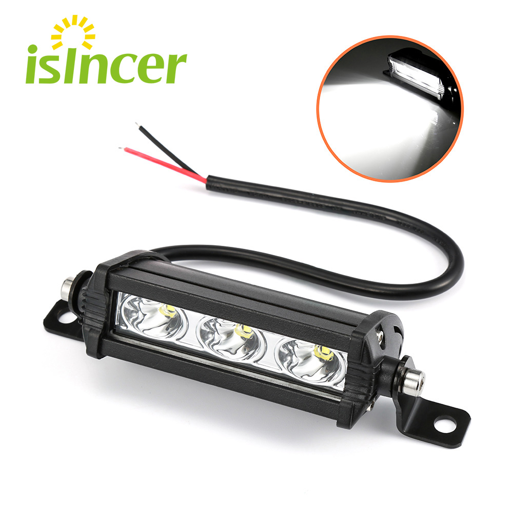 ISincer 9W Car LED Work Light Bar Led Chips Waterproof Offroad Car Work Bulb Headlight ATV SUV 4WD Boat Truck For Jeep BMW