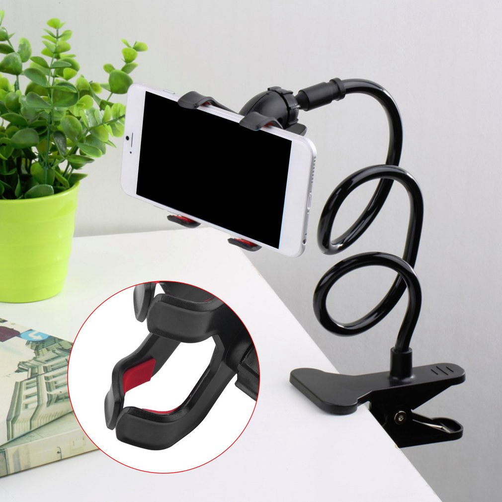 Universal Flexible Holder Arm Lazy Mobile Phone Gooseneck Stand Holder Stents Flexible Bed Desk Table Clip Bracket For Xiaomi