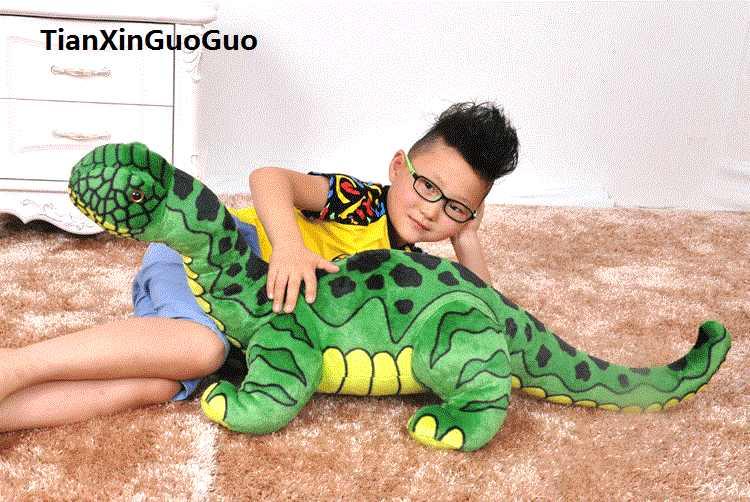 Grande 95 cm Brachiosaurus dinossauro verde de pelúcia boneca de brinquedo macio throw pillow presente de aniversário s0130