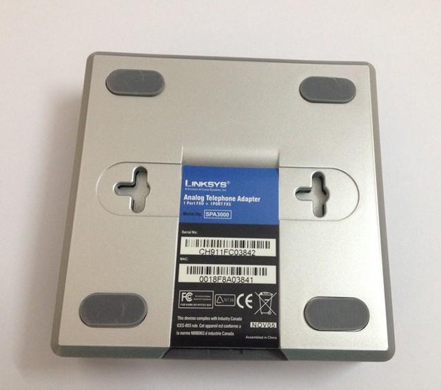Adaptador de Telefone Linksys SPA3000 VoIP SPA3000 Desbloqueado maneira Portão VoIP FXS FXO PSTN SPA3000