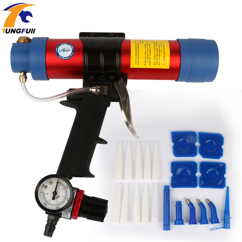 Pneumatic Caulking Gun Glass Glue Air Rubber Guns Tools Sealant Finishing Tools 310ml Cartridge Gun Paint & Decorating