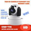 Cámara del IP del P2P 720 P HD Wifi Wireless Baby Monitor de Seguridad PT tarjeta de memoria sd micro de la visión nocturna de visión nocturna onvif nube onvif