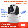 Câmera IP P2P 720 P HD Wifi Sem Fio Do Bebê Monitor de Segurança PT onvif night vision onvif nuvem night vision micro sd cartão de memória