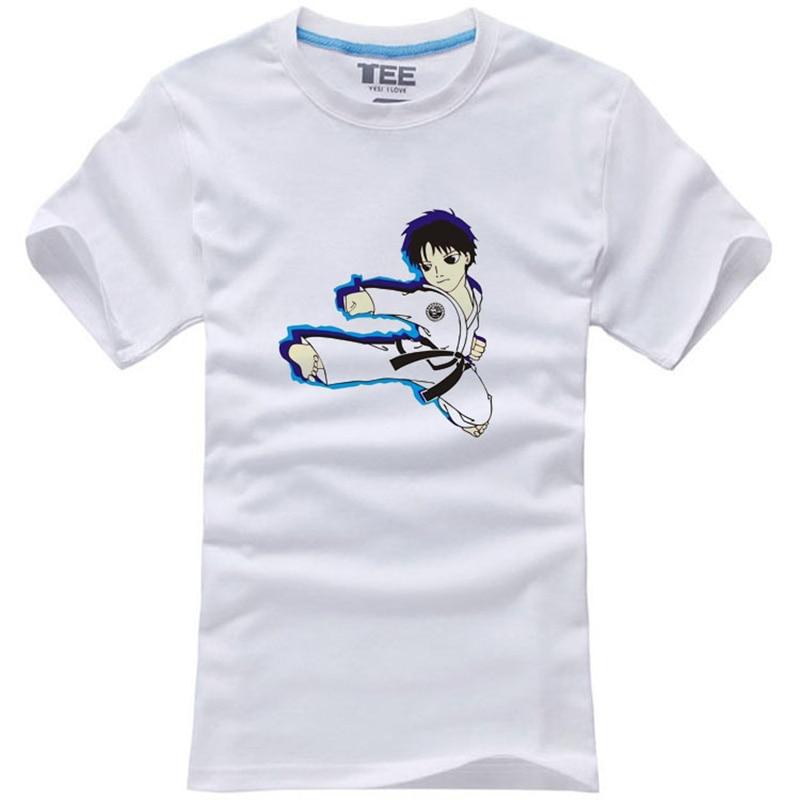 Fashion Men T Shirt Judo Japanese Nippon Martial Art Combat Print T Shirt Male Short Sleeve
