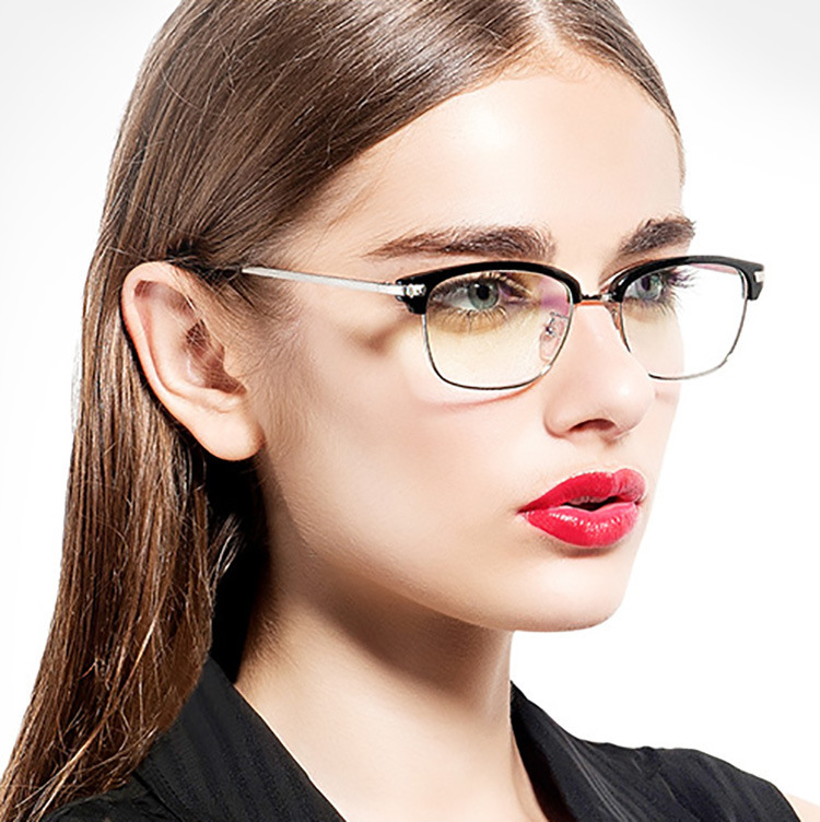 2017 new fashion glasses frame for men women eyeglasses clear lens half frame eyewear glasses What style glasses are in fashion 2015