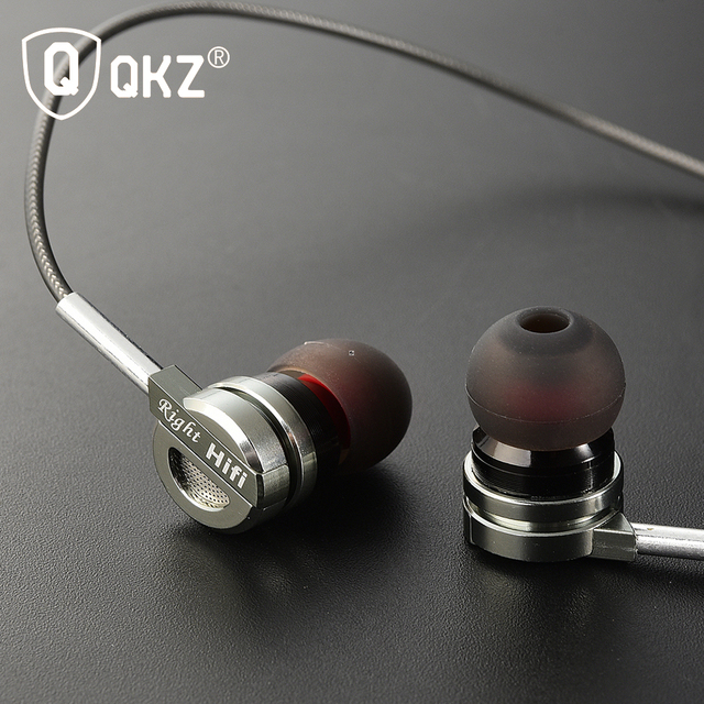 Earphone QKZ DM9 Zinc Alloy HiFi Earphone In Ear Earphones fone de ouvido BASS Metal DJ MP3 Headset auriculares audifonos Stereo