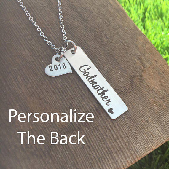 2018 New Arrival Godmother Pendant Necklace Custom Any Words On The Back Gift Jewelry Birthday Gifts YP3791 In Necklaces From