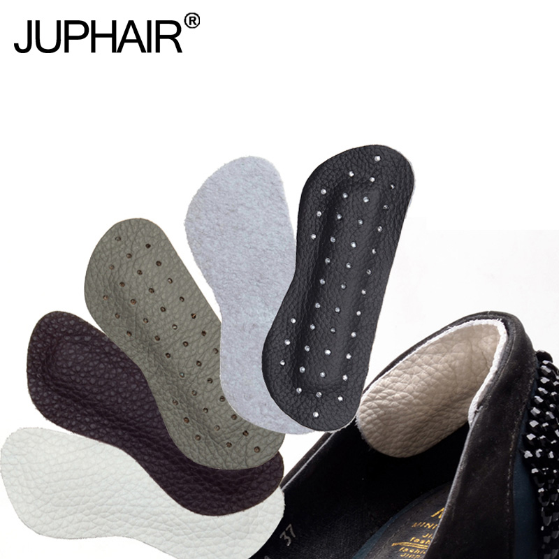 3 Pairs Cowhide Leather Rearfoot Stickers Insole High Heel Cushion Pad Protector Liner Anti-Foaming Foot Wear Half Yards Before
