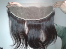 Virgin Indian Lace Frontal with Baby Hair Natural Straight 13×4 Full Lace Closure From Ear to Ear Human Hair