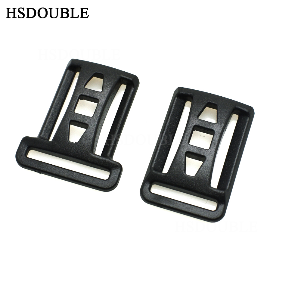 Buckles & Hooks 20*25mm 25*25mm Double Multi-function Tri-glide Slider Adjust Buckle Hardware For Outdoor Backpack Bags Webbing Home & Garden