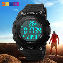 SKMEI Outdoor Sports Watches Men LED 50M Waterproof Digital Wristwatches Pedometer Chronograph Military Army Watch 1112