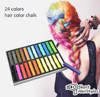 Beauty 24 PCS Convenient Temporary Super Hair Dye Colorful Chalk Hair Color Alcohol Free Chalks For