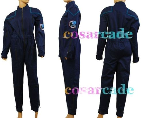 Star Trek Enterprise Duty Uniform Jumpsuit Halloween Cosplay Costume!a