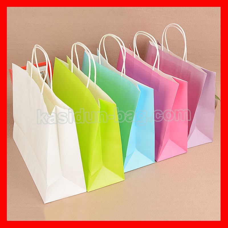 100pcs lot Wholesale eco shopping bag paper