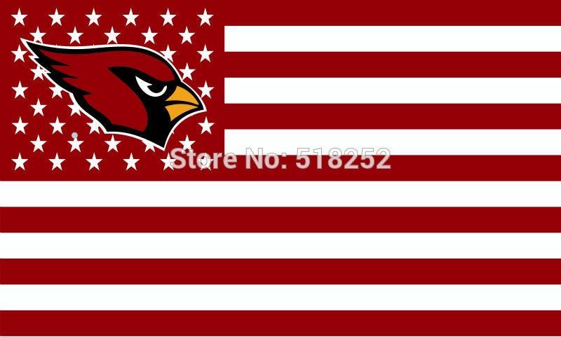 Arizona Cardinals US Stripe Flag 3x5 FT 150X90CM Banner 100D Polyester flag5085 , free shipping