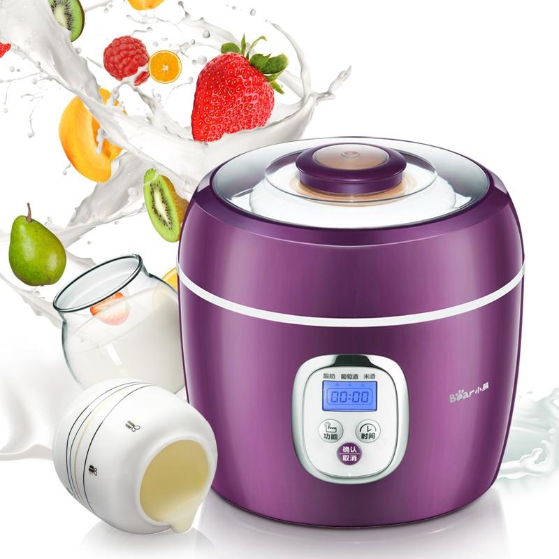 Bear SNJ-580 Yogurt Machine Microcomputer Version Grape Red Wine Machine Red Wine Yogurt printio red bear