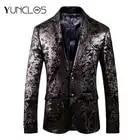 YUNCLOS 2019 Homens Blazer Slim Fit Festa de Casamento Terno Masculino Jaquetas Blazer dos homens de Alta Qualidade Casacos de Inverno blazer masculino