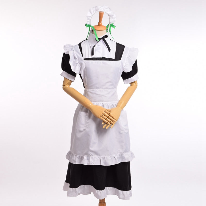 Nozomi Tojo Lolita Maid Dress Apron Anime Love Live Cosplay Lady Costume