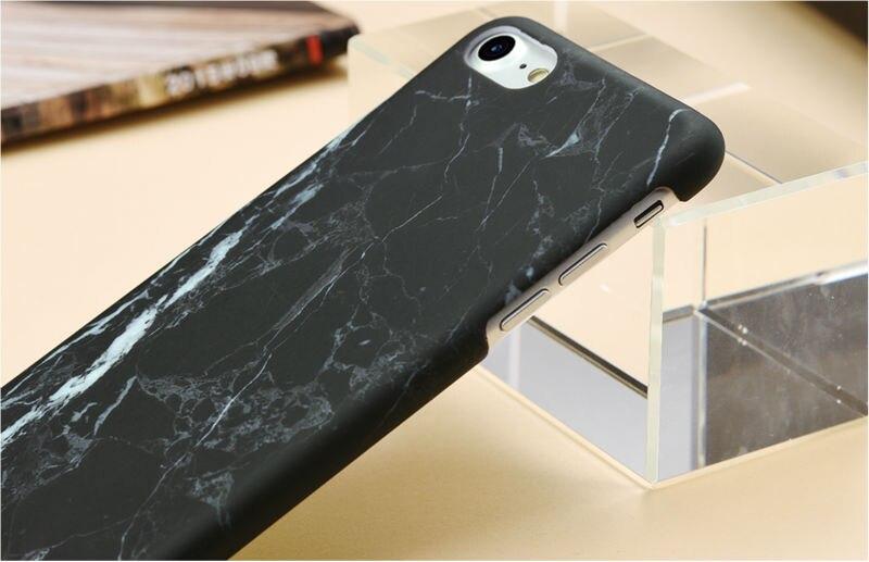 HTB1SkYcPFXXXXcfXFXXq6xXFXXXz - Marble Pattern Phone Case For iPhone 7 5 5s SE 6 6s Plus Smooth Hard Plastic Phone Back Cover Cases For iPhone7 Plus PTC 131