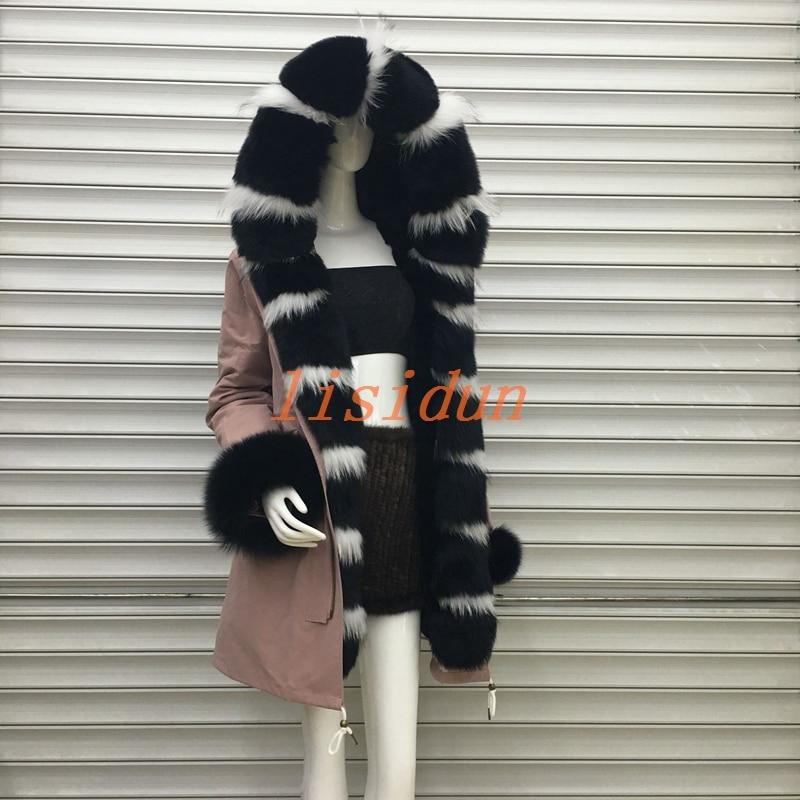 Doublure 2018 Longue Nouveau Vêtements Renard Parker Femmes Manteau Et Robe De Fourrure Fourrure Lapin Manteau Loutre Cheveux xwFrqRxUv