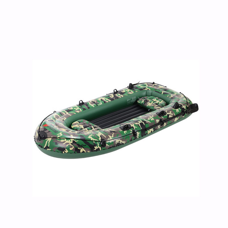 4 Person Camouflage Green PVC Rubber Dinghy Inflatable Boat Thickened Folder Portable Kayak Fishing Boat Cushion For Boats
