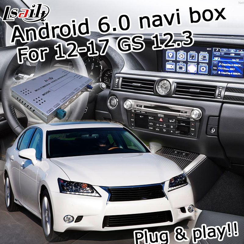Android 6 0 GPS navigation box for Lexus GS 2012 2017 etc video interface with knob