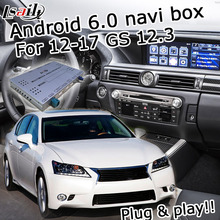 Android 6.0 cuadro de navegación GPS para Lexus GS 2012-2017 etc interfaz de vídeo con la perilla de control táctil del ratón LVDS GS350 GS450h GS300h
