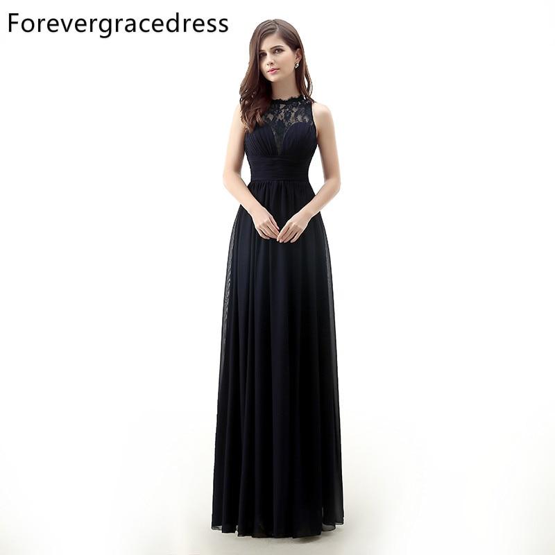 Forevergracedress 2017 Μαύρο φόρεμα μακρύ - Φορεματα για γαμο - Φωτογραφία 1