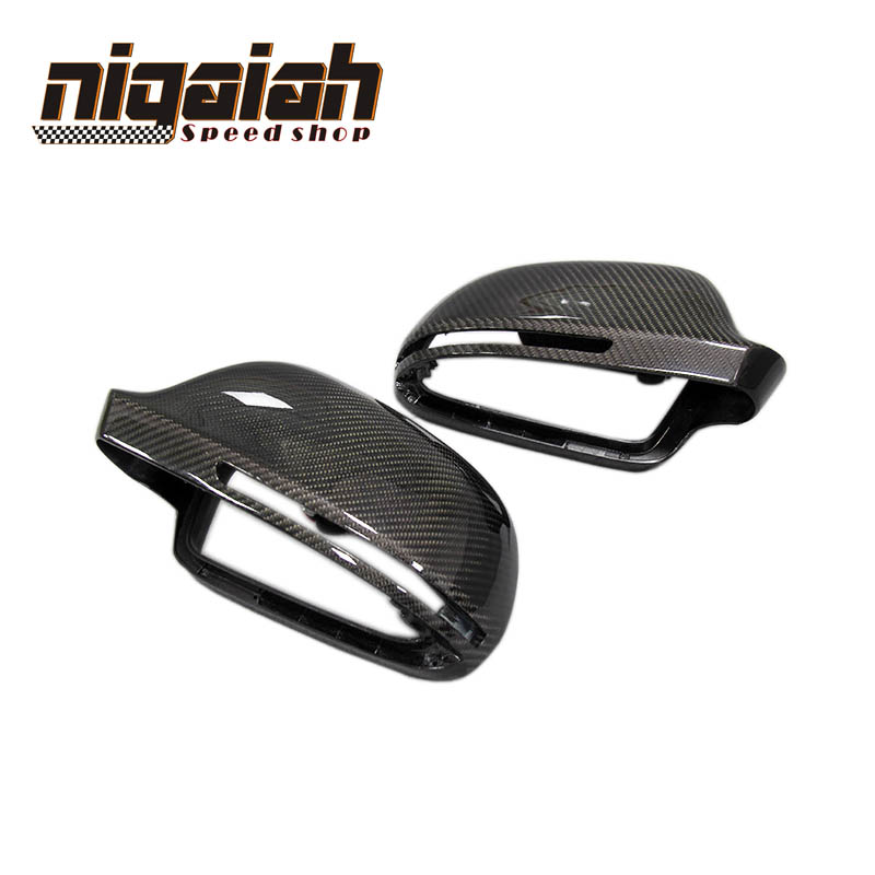 A5 A4 B8 Carbon Fiber Rear Mirror Covers Caps For Audi A4 B8 2009-2012 A5 2007-2009 RS3 2012-2014 RS6 2009 A8L 2009-2010