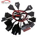 Low price OBD / OBD2 CDP Car Cable diagnostic tool 8Pcs Full Set Car Adapters tcs CDP Pro 8 Car cables