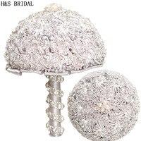 H&S BRIDAL Luxury Crystals Wedding Bouquet wedding accessories Bridal Bouquets Artificial Wedding Bouquets matrimonio