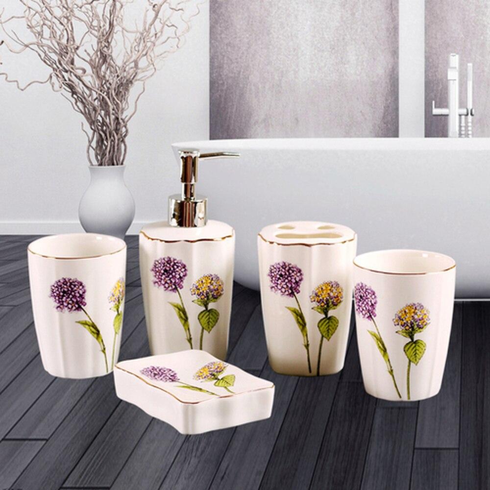 Daily special dandelion wash ware five-piece European ceramic tooth set cup bathroom lo871042Daily special dandelion wash ware five-piece European ceramic tooth set cup bathroom lo871042