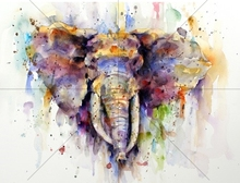 Diy diamond painting accessories watercolor elephant embroidery mosaic full rhinestones cross stitch handmade needlework