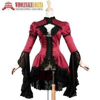 Top Bodice Jacket Sexy Vampire Reenactment Halloween Costume