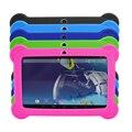 """7 """"A33 Quad Core 1.5 GHz 5 Cores Q88 7 polegada Tablet PC 1024x600 Câmera Dupla 8 GB Android Tablet Bluetooth com Silicone caso"""