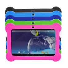 "7 ""A33 Quad Core 1.5 GHz 5 Colores Q88 7 pulgadas Tablet PC 1024×600 de Doble Cámara 8 GB Bluetooth Tablet Android con Silicona caso"