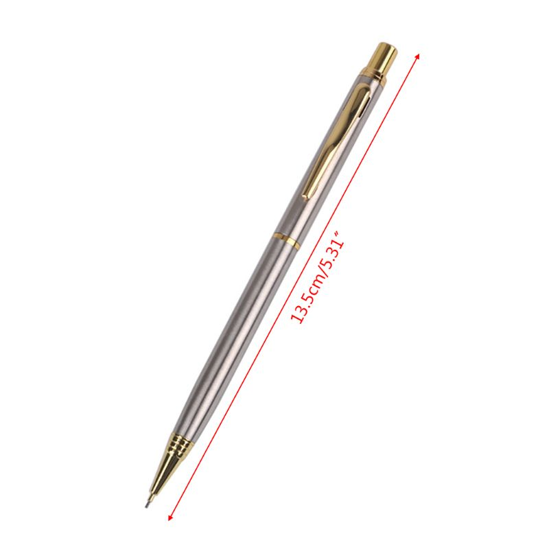 0 5mm Commercial Metal Ballpoint Pen Mechanical Pencil Automatic Pens Writing Drawing School Supplies Stationery in Mechanical Pencils from Office School Supplies