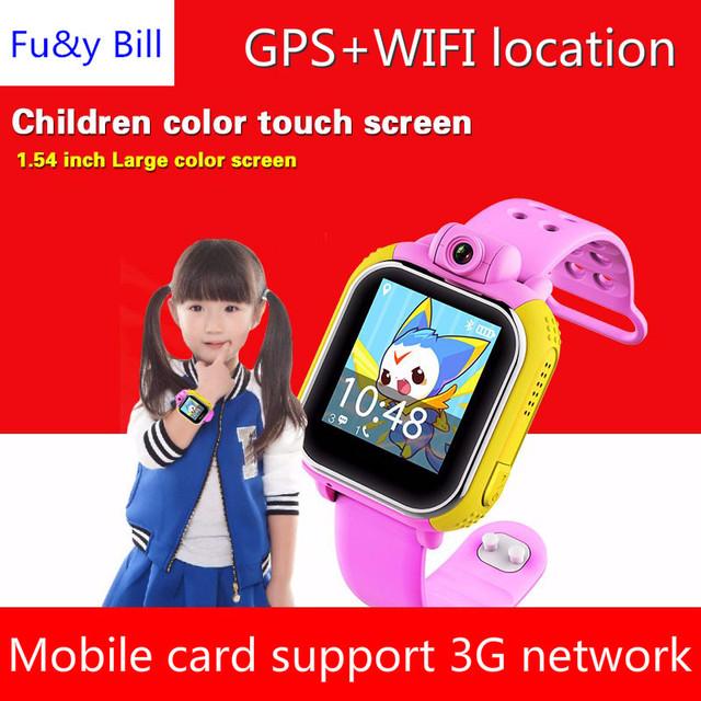 Nova 3G Q730 Crianças Relógio De Pulso Para IOS Android Com Câmera GSM GPRS WI-FI GPS Rastreador Localizador Anti-Lost Smartwatch Guarda