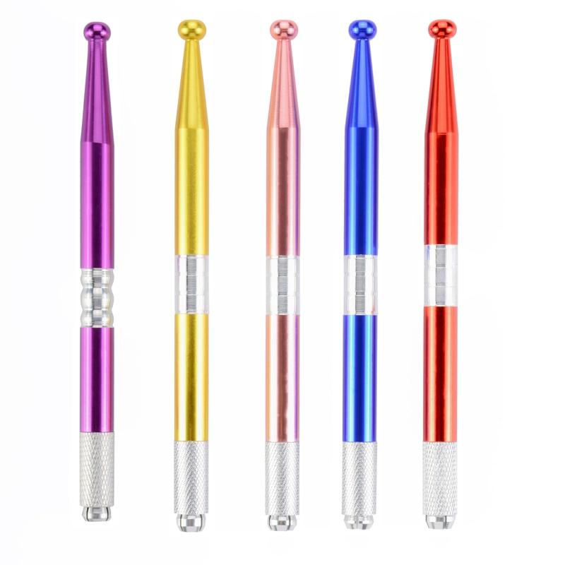 New Style Mixed Colors Handmade Permanent Makeup Eyebrow Manual Tattoo Pen 3D Eyebrow Microblading Pen