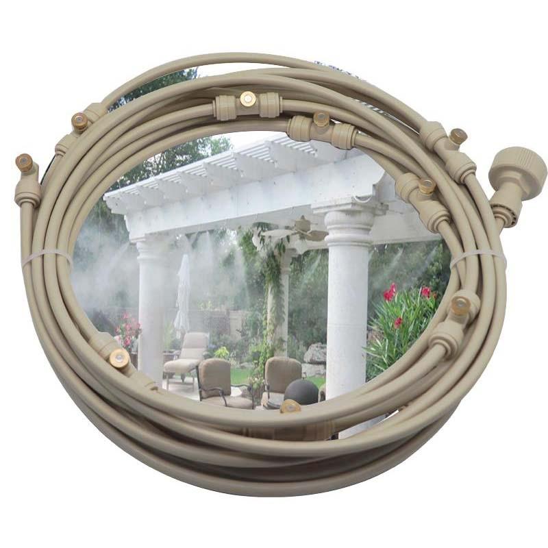 Система охлаждения с латунными насадками Beige 6M -18M для наружного сада, воды, тумана