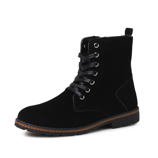 2016 Outono e Inverno Dos Homens Martin Moda Botas de Tornozelo Dos Homens Alta qualidade Rendas Até Sapatos Adultos Homens Botas Tamanho 39-44 Zapato Hombre